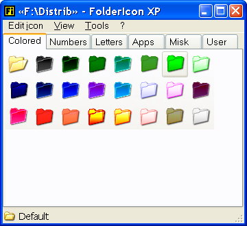 FolderIconXP main window